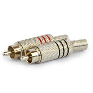 Plug Rca 6mm Niquelado
