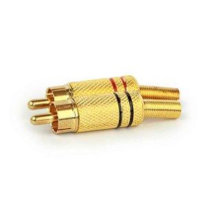 Plug Rca Dourado 4mm