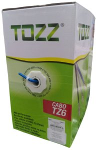 Cabo de Rede Tozz TZ6 Cat6 Internet CFTV cx 305mts