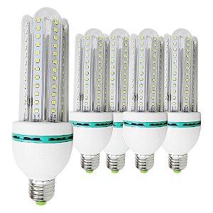 5 Lâmpadas de Led 30W, E27, 6000K, Super Econômica