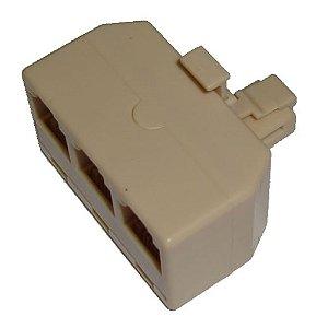 Divisor RJ11 Telefônico, 1 para 3 Aparelhos