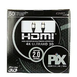 Cabo HDMI 2.0 - 4K, Ultra HD, 3D, 19 Pinos - 50 metros