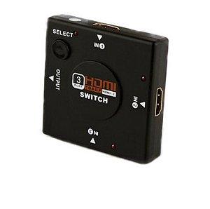 Switch HDMI 3 Entradas e 1 Saída