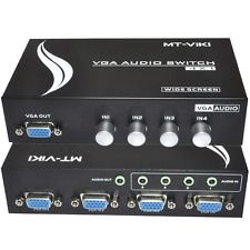 Switch VGA com Áudio 4x1 Manual