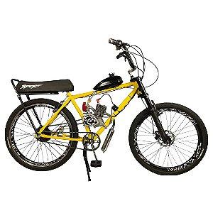 Bicicleta Motorizada Cabeças Bikes Extreme Tipo 90cc 2T Aro 26 Banco Mobilete