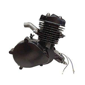 Motor 2T Tipo 80cc Parcial Cabeças Bikes para Bike Motorizada Preto