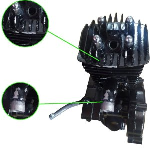 Motor Parcial Com Detalhes na Pintura - NOVO (Não acompanha demais peças do Kit)