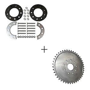 Kit Coroa de 44 Dentes em Aço + Kit de Fixação da Coroa Motorizada