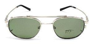 Armação para óculos de grau em titânio com clip polarizado - FFF Prime (5834)