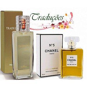 Traduções Gold Nº 5 Feminina concorrente Chanel 5 100 ml