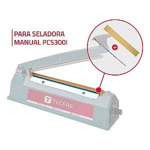 2 Fitas Teflon + 2 Resistências para Seladora Manual PCS300I