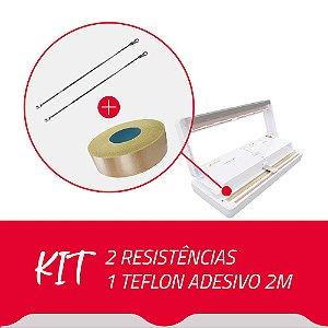 2 Resistências + 1 Teflon Adesivo para Seladora A Vácuo DZ280A