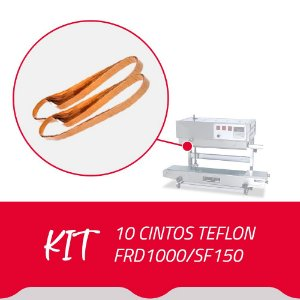 10 Cintos Teflon para Seladora Contínua FRD1000/SF150