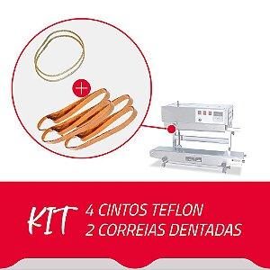 4 Cintos Teflon + 2 Correias Dentadas para Seladora Contínua SF150
