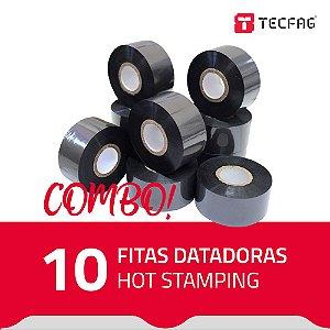 Fita Datadora Hot Stamping HS30 30 mm x 120 m (10 unidades) - Preto