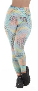 Calça Legging Fitness com Cós Alto Estampada