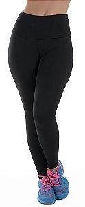 Calça Legging Fitness com Cós Alto Lisa