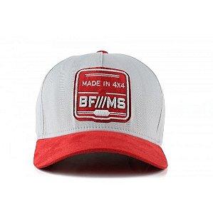 Boné BF///MS Original Collection - Cinza c/ Vermelho