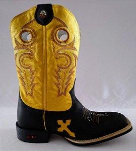 Bota Da Hora Preto com Amarelo 00866