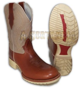 Bota Brazil Country Lisa Pull Up Canela/Cano Marfim