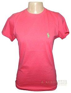 Camiseta Gola Careca Pink