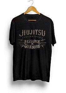 Camiseta HM Pass x Guard Jiu-Jitsu Preta