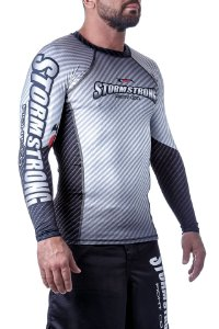 Rash Guard Carbon Branca ML Camiseta Lycra StormStrong