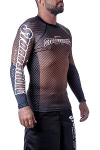 Rash Guard Carbon Marrom ML Camiseta Lycra StormStrong