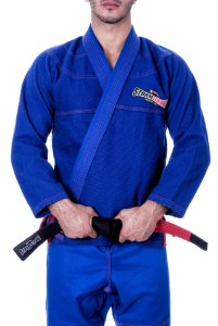 Kimono STORMSTRONG Jiu-Jitsu Red Line Azul Royal
