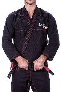 Kimono STORMSTRONG Jiu-Jitsu Red Line Preto