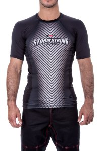 Rash Guard Bolt Preta MC Camiseta Lycra StormStrong