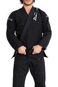 Kimono STORMSTRONG Jiu-Jitsu Super Pro Silver Preto