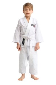 Kimono StormStrong Jiu-Jitsu Trançadinho Infantil Branco