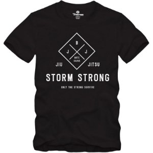 Camiseta StormStrong Jiu-Jitsu BJJ Only Preta