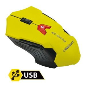 MOUSE GAMING 6 BOTOES BRIGHT 2400DPI