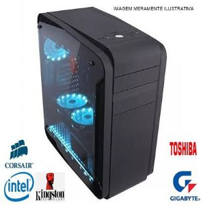 COMPUTADOR GAMER INTEL I5 7400- 8GB DDR4- HD 1TB- GPU GTX 1060 3GB- DDR5