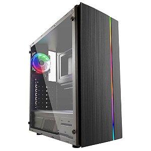 GABINETE GAMER PIXXO CGX-910 C/COOLER E LED RGB