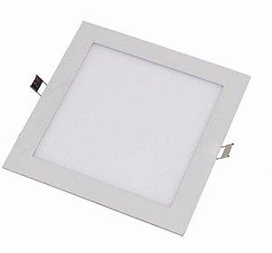 Plafon de Embutir Quadrado 6W - Branco Quente