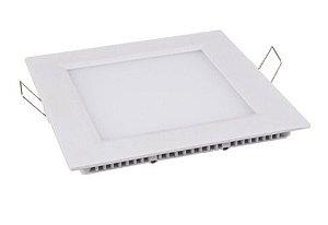 Plafon de Embutir Quadrado 12W - Branco Frio