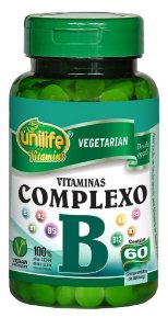 Vitaminas do Complexo B Unilife 60 Capsulas 500mg