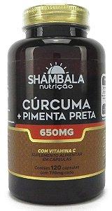 Curcuma com Pimenta Preta em Pote 120 Caps (650mg ) – Shambala
