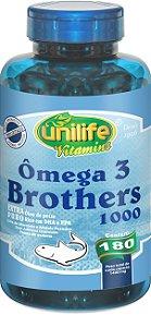 Omega 3 Brothers com 180 Cápsulas - Unilife