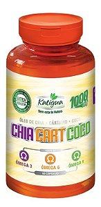 Óleo de Chia + Cártamo + Coco (Omega 3-6-9) de 60 Caps