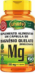 Magnésio Quelado 60 Cáps Unilife