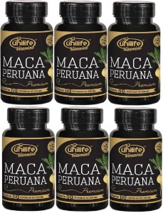 Kit Maca Peruana (360caps) 100% Natural e Pura - 6 Potes -  Unilife