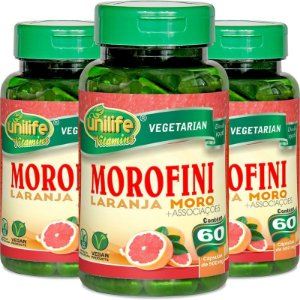 Kit com 3 Morofini - Morosil 500mg 180 caps. Unilife
