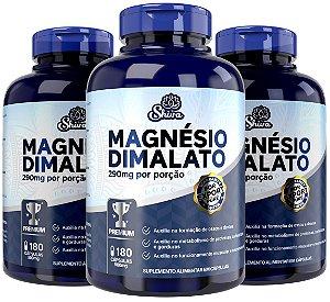 Kit com 3 Magnésio Dimalato Premium (290mg) 540 cápsulas - Shiva