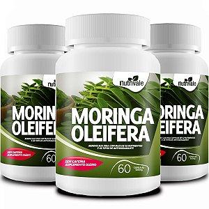 Kit com 3 Moringa Oleifera 180 caps 100% Natural - Nutrivale