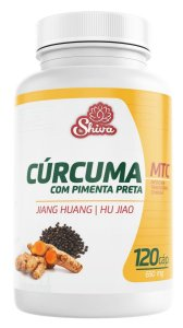 Curcuma com Pimenta Preta - 120 caps - 650 mg - Shiva