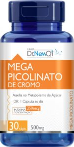Mega Picolinato De Cromo -  30 Cápsulas - Dr NewQi